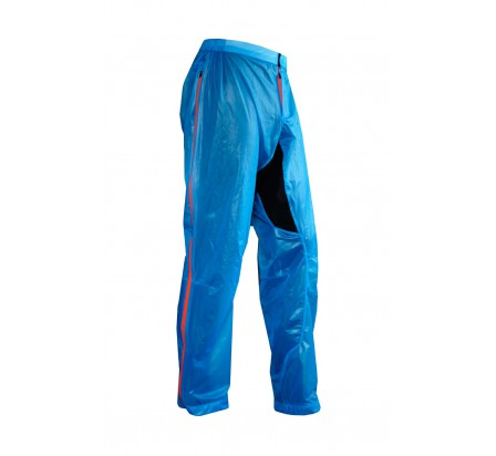 UGLOW pantalon imperméable u-pant bleu zip orange