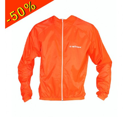 MILREMO veste coupe vent légère basic orange fluo