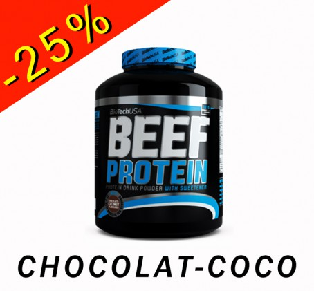 BioTech USA Beef Protein - chocolat coco 1816gr - ILLIMITsport.com