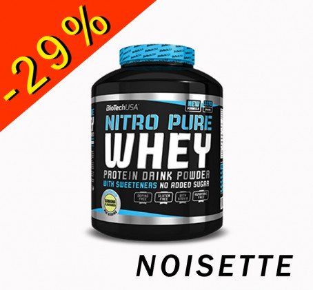 BioTech USA Nitro Pure Whey - noisette 908gr - ILLIMITsport.com