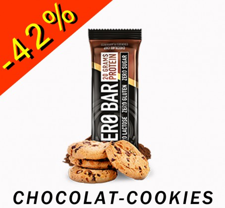 BioTech USA Zero Bar - Protein - chocolat cookies 50gr - ILLIMITsport.com