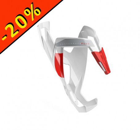 Porte bidon - ELITE custom race plus - blanc rouge - ILLIMITsport.com