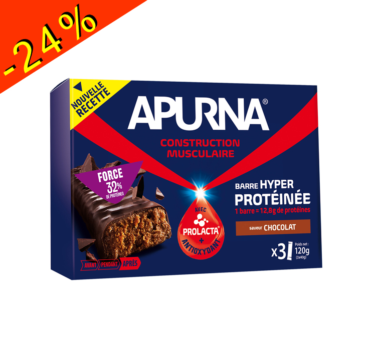 apurna barre hyper prot in e chocolat 40gr construction musculaire apurna nutrition sportive. Black Bedroom Furniture Sets. Home Design Ideas