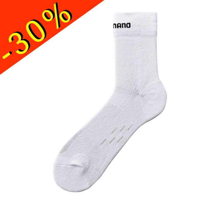 shimano chaussettes de cyclisme haute homme t blanc chaussette v lo route. Black Bedroom Furniture Sets. Home Design Ideas