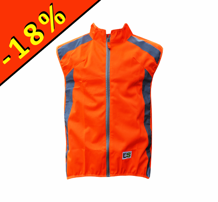 l2s visioplus gilet de s curit cyclisme orange fluo. Black Bedroom Furniture Sets. Home Design Ideas