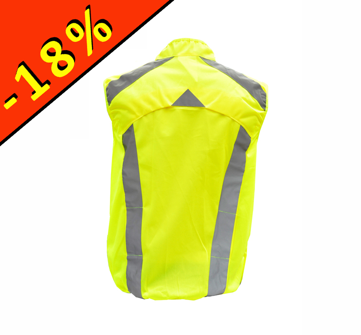 l2s visioplus gilet sport s curit haute visibilit jaune fluo running cyclisme. Black Bedroom Furniture Sets. Home Design Ideas