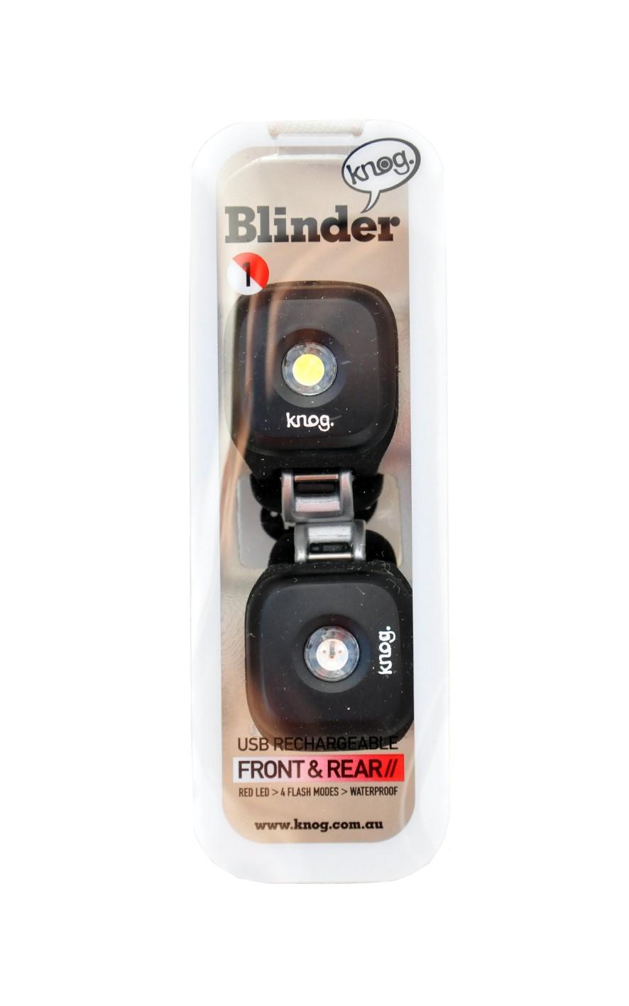 knog twinpack blinder lampe de v lo avant arri re noir. Black Bedroom Furniture Sets. Home Design Ideas