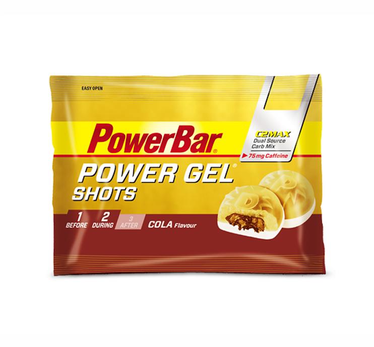 powerbar power gel shots bonbon cola 60gr powerbar