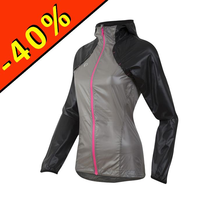 21a00052116 Veste pluie running femme - PEARL IZUMI Pursuit Barrier - gris noir rose -  ILLIMITsport.com